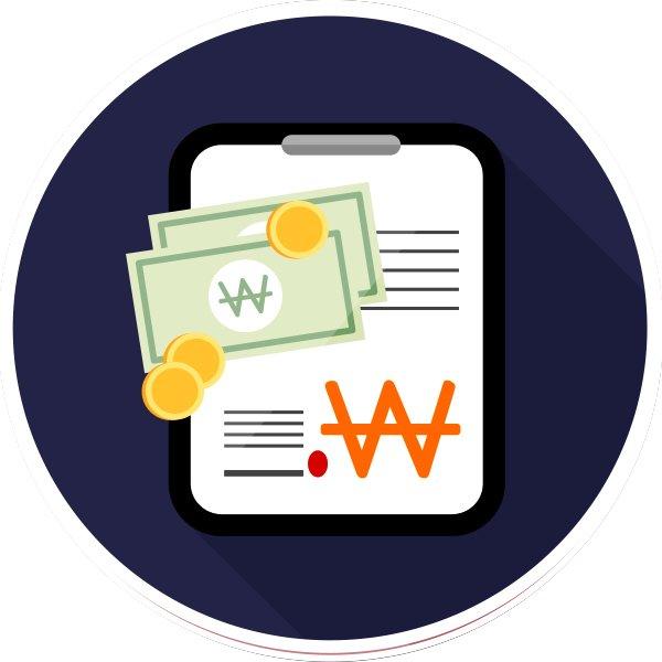 cash table icon 신용카드 현금화 장부